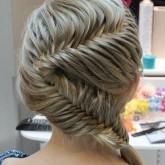 Оригинальная коса змейка с плетением колосок