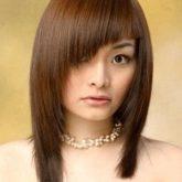 Интересный вариант асимметрии на длинных волосах