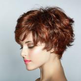 Эффект волнистых коротких волос