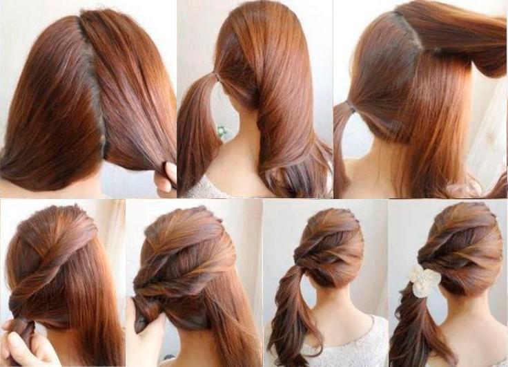 Картинки причёски простые