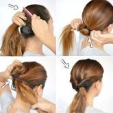Можно заменить косы на жгуты из волос