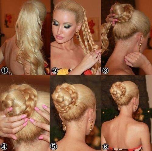 фото инструкции пучка из волос