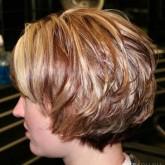 Стильная стрижка на коротких волосах