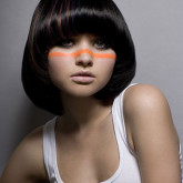 Ретро стрижка на средних волосах
