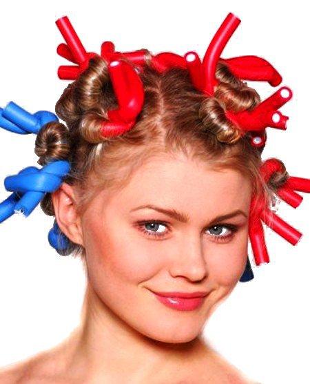 как накрутить волосы на бигуди бумеранги