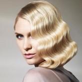Голливудская волна на средние волосы