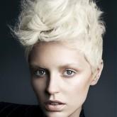 Ирокез женский на светлых волосах