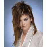 Оригинальная рваная стрижка на длинные волосы