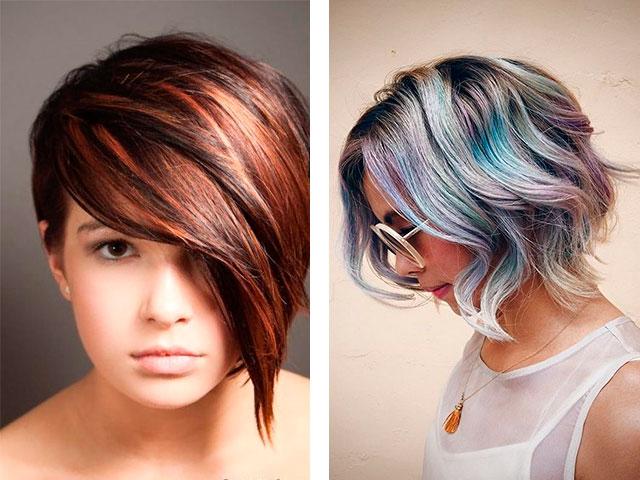Колорирование волос на короткие волосы фото