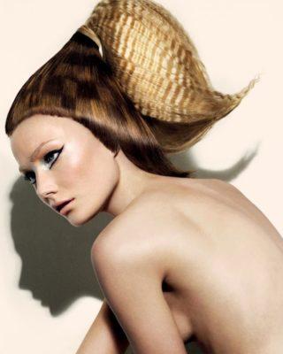 Трафаретное окрашивание волос тренд в создании оригинального облика