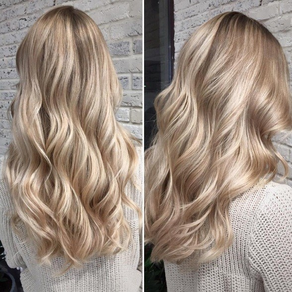 Окрашивание блонд волос фото