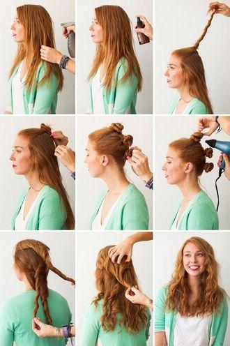 Локоны из жгутиков волосы