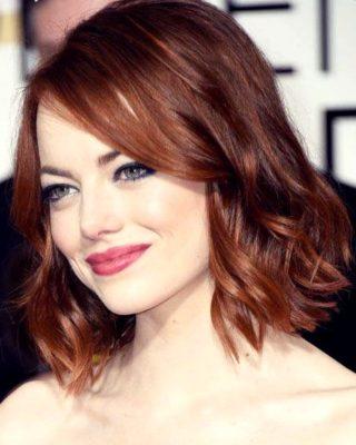 Рыжие волосы удлиненное каре