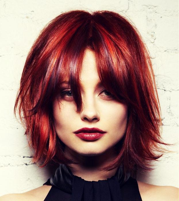 Интересные стрижки для средних волос