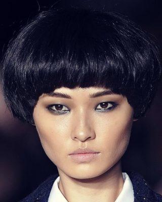 Прическа сессон на средние волосы