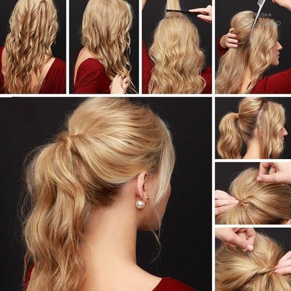 Повседневные прически на средние волосы