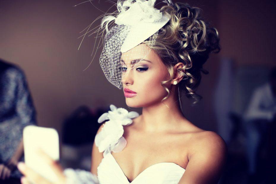 Высокие свадебные прически
