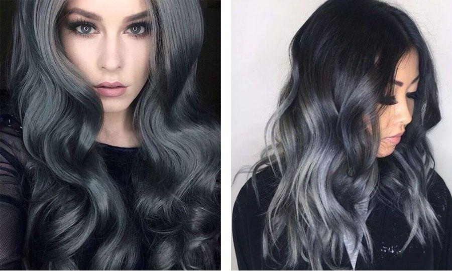 Холодные темные цвета волос