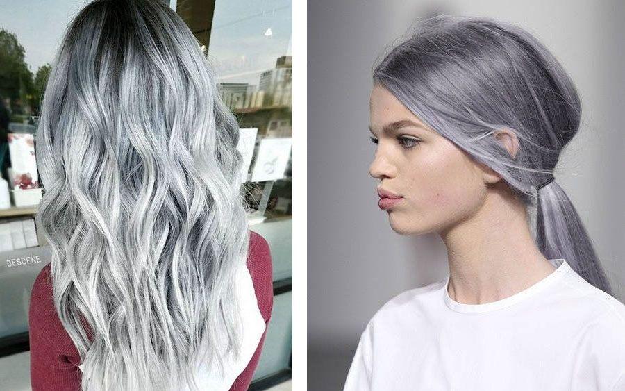Покрашенные волосы в седой цвет в домашних условиях 168
