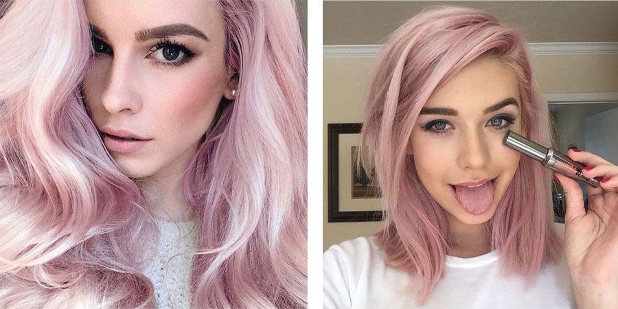 Темно пепельно-розовый цвет волос
