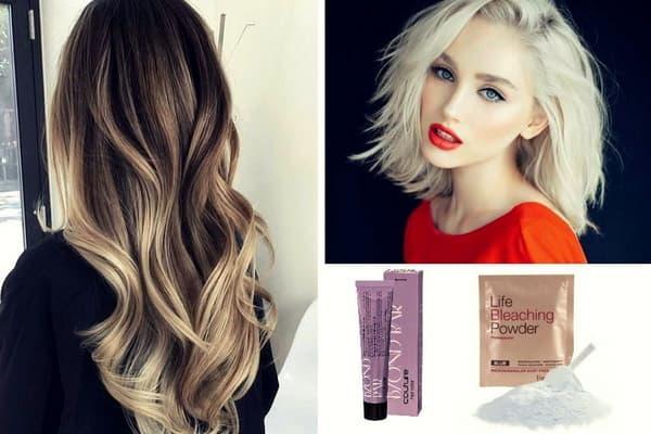 Как осветлить волосы и пряди в домашних условиях