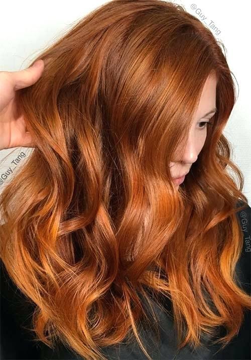 Рыжий цвет волос ВолосоМагия