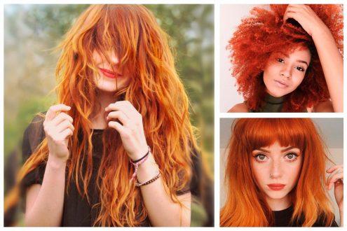 Палитра рыжих оттенков краски для волос